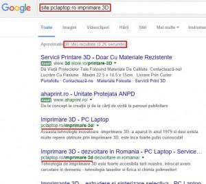 Cautare eficienta cu Google - Cautare pe un site