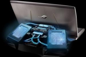 Cel mai scump laptop de pe piata - ROG GX700 - Radiatoarele sistemului de racire extern