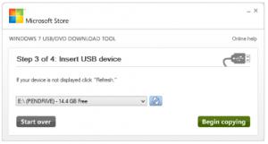 Crearea stickului USB bootabil cu Win 10 - Selectarea literei suportului