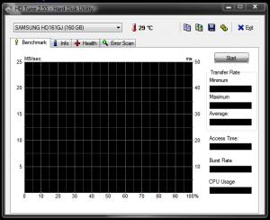 Cum verificam harddiskul pentru defectiuni fizice - Interfata programului la lansare