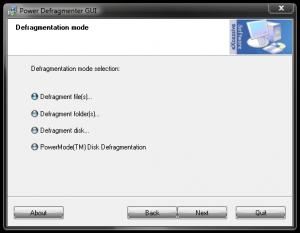 Defregmentarea hardului cu Power Defragmenter - Power Defragmenter-Mode