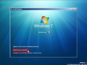 Realizarea unui CD de recuperare cu Windows 7